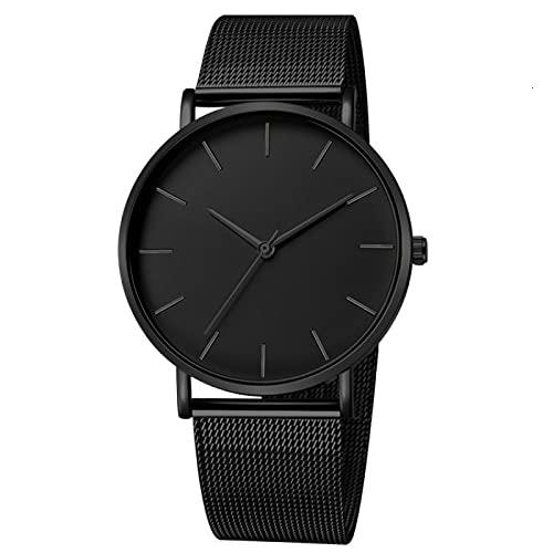 SIMEISM Reloj de moda Hombres Minimalista Negocios Deporte Malla Cinturón Ultra Delgado Cuarzo Los Hombres Relojes Hombre Reloj Hora