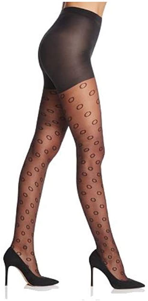 All Atlanta Mall stores are sold Hue Women's Circle Sheer Control 2 Size Top Black Tights