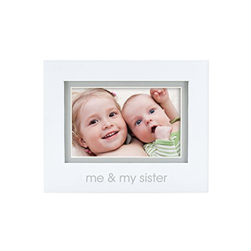 Pearhead Me and My Sister Photo Frame, White