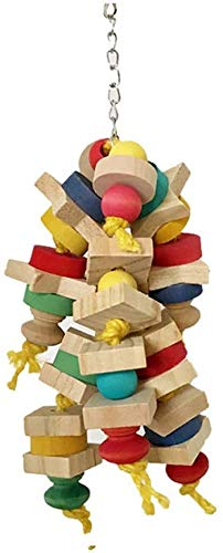L.TSA Kid's Building Blocks Large Medium and Small Parrot Bite Toy Log Block Bite String Escalade Ladder Ladder (1pcs) (Couleur: Multicolore, Taille: Taille Libre)