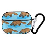 Funny Platypus PC Case Cover for AirPods Pro, Protective Anti-Scratch Case Cover with Keychain