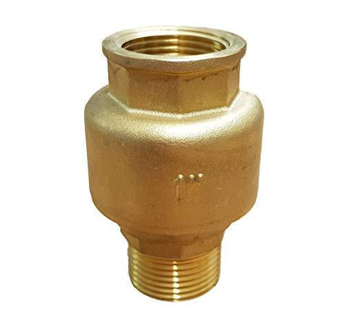 Rückschlagventil 1 Zoll (33mm) gerade_-=-_ mit Messingkegel als Rückschlagklappe für Brunnen Saugschlauch Hauswasserwerk Schwengelpumpe Gartenpumpen -Das Ventil das die Profis nutzen !
