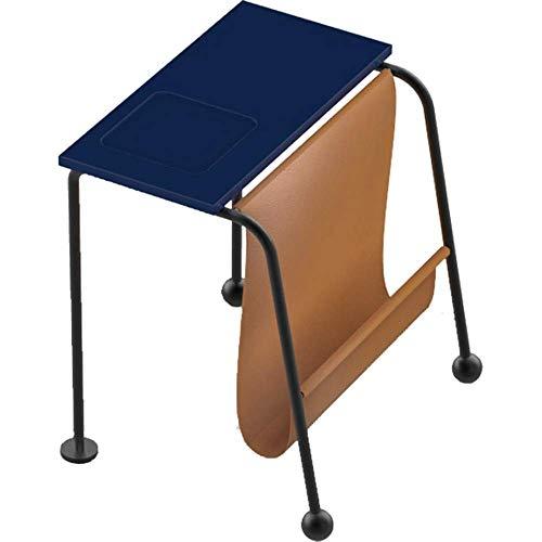 Home & Selected Furniture Modern, uniek design Home Office Furniture Loft snack-meettafel met tijdschrift en extra opbergruimte (kleur: blauw,