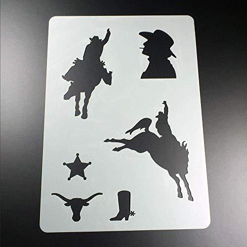 Schablone Cowboy Sheriff Wilder Westen Stern - BV09