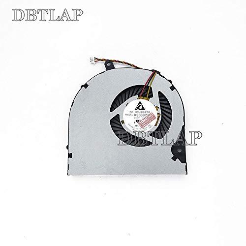 DBTLAP Ventilador de la CPU del Ordenador portátil para Toshiba Satellite P50T S55t P50-B s55-A5294 P50-AST2NX2 P50-AST3NX2 P50-AST3NX3 P50 S50 S55 KSB0805HB CL1X CL2C