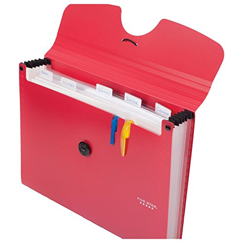 Five Star 6-Pocket Expanding File Organizer, Plastic Expandable Letter Size File Folders with Pockets, Home Office Supplies, for Receipts, Bills, Documents, Color Selected For You, 1 Count (35552) Photo #31