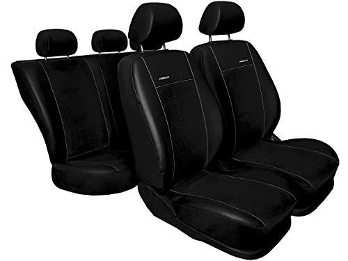 Nissan Qashqai Sitzbezüge nach Maß Autoplanen perfekte Passform Schonbezüge Sitzschoner Velour + Strickpolster ®Auto-schmuck (Qashqai II Premium schwarz)