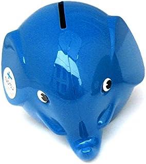 Norsu (ノルス)エレファントバンク 貯金箱 (S) ブルー pud036【即日・翌日発送】