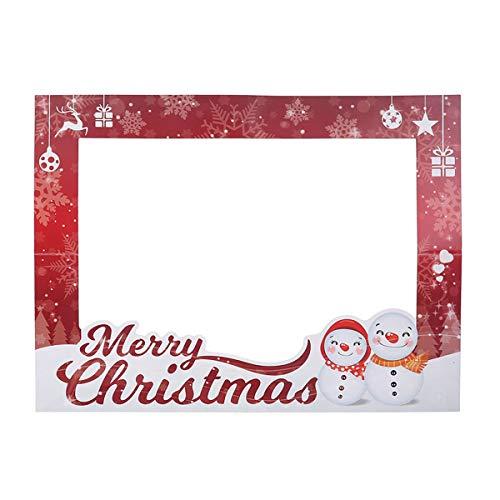 BESTOYARD Navidad Selfie Frame Photo Booth Navidad, Vacaciones decoración