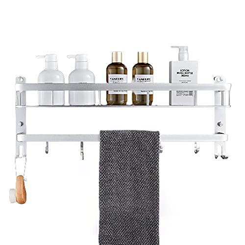 Chew estanterias para baño,estanteria Ducha,con Ganchos y toalleros,Gran Capacidad de Carga,no se oxidan fácilmente,Son duraderos,fáciles de Limpiar,se Pueden Usar en cocinas,baños,etc.