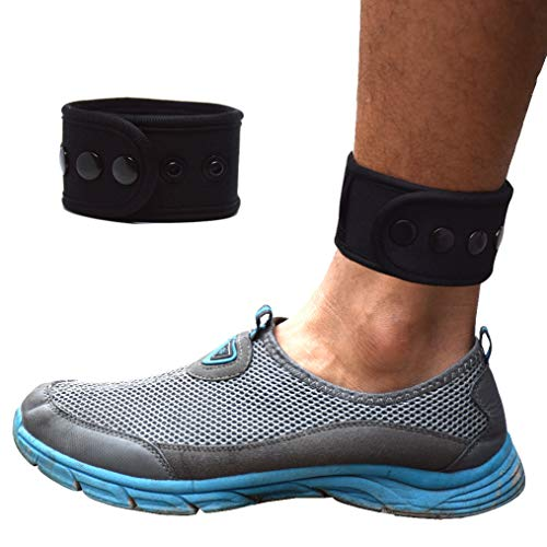 B-Great Ankle Band for Men and Women Compatible with Fitbit Zip/Fitbit Charge 2 3/Fitbit Blaze/Fitbit Versa/Jawbone Up Move/Moov Now/Misfit Shine Fitness Tracker (Black, Medium)