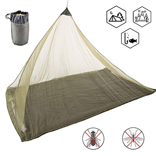 WBTY Mosquito Nets,360 Degree Mosquito Tent Outdoor Camping Backpacking Tent for Single Camping Bed Anti Mosquito Net
