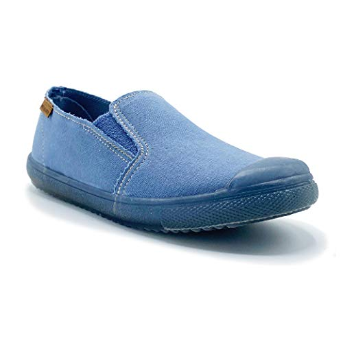 Zapatillas de Lona ecológica para niña y niño/Bambas Infantiles con aromaterapia antimosquitos/Calzado Infantil con Cierre de Elastico/fabricacion en España
