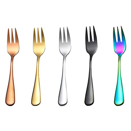 Tenedor de Pastel de Acero Inoxidable, Tenedores de Frutas d