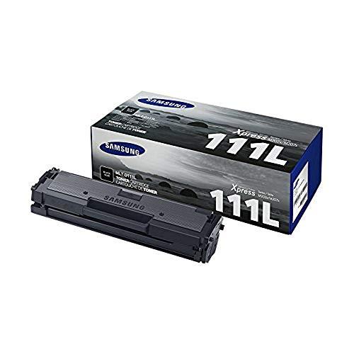 Samsung MLT-D111L, SU799A, Negro, Cartucho Tóner de Alta Capacidad Original, de 1.800 páginas, compatible con impresoras Samsung Laserjet monocromáticas Xpress Serie M2022, M2026, M2060, M2070 y M2078