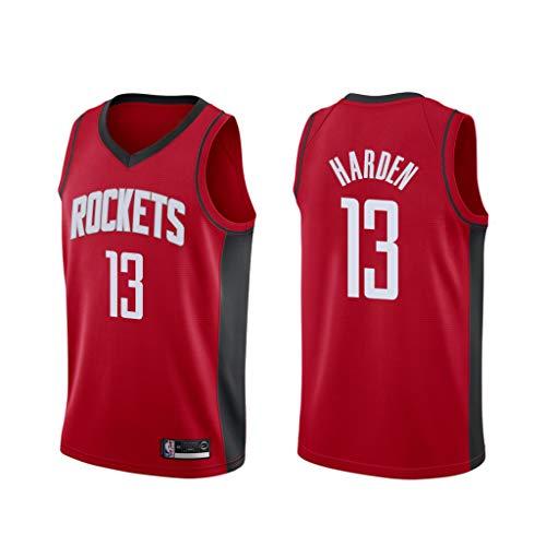 canottejerseyNBA James Harden - Houston Rockets #13, Basket Jersey Maglia Canotta, Swingman Ricamata, Abbigliamento Sportivo (L, Rosso Icon 2019)