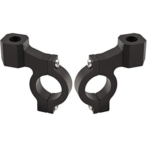 Ryde Schwarze Spiegel-Motorradhalterung für Lenkstange 22mm - EIN Paar