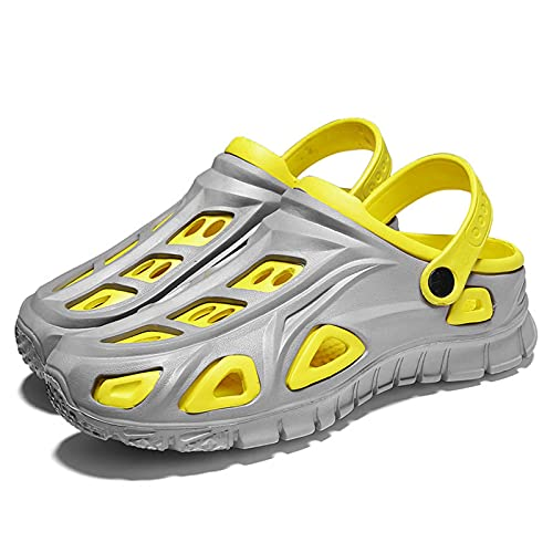 YWJPJ. Zapatos de Hombre de Playa al Aire Libre, Zapatillas Transpirables, Sandalias de Agujero, Zapatillas para Mujer al Aire Libre resbalones en jardín Zapatos de Arena,Amarillo,39