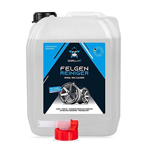 GORILLAR Felgenreiniger 5 L, 5000ml, Autopflege für Alufelgen, säurefrei pH-neutral
