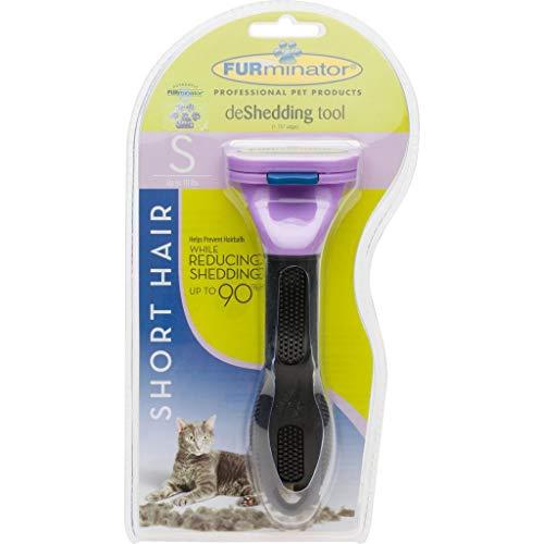 FURminator Fellpflege deShedding-Pflegewerkzeug für kurzhaarige kleine Katzen bis 4,5 kg, Größe S, 1 Tool - 2