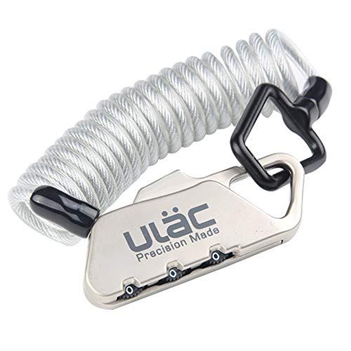 DALADA Candado de combinación para casco con cable de 120 cm de...