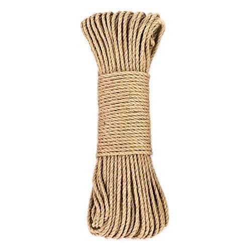 Amakunft Cuerda de cáñamo para árbol de Gatos y Torre, rascador de Gatos DIY Cuerda de sisal para Gato rascador Poste árbol reemplazo, Jugar Almohadilla de rascado Flexible