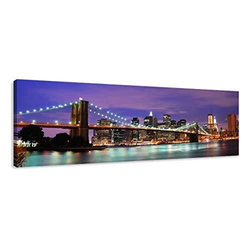 Visario Leinwandbilder 5701 Bild auf Leinwand New York,, 120 x 40 cm