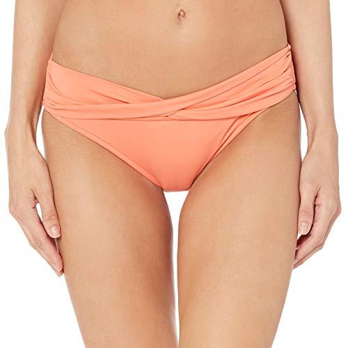 Seafolly Damen Twist Band Hipster Full Coverage Bikini Bottom Swimsuit Bikinihose, Melon, 42