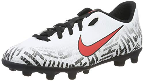 NIKE Neymar Jr. Vapor 12 Club FG Zapatillas de Fútbol, Unisex Niños, Multicolor (White/Challenge Red/Black 170), 38.5 EU