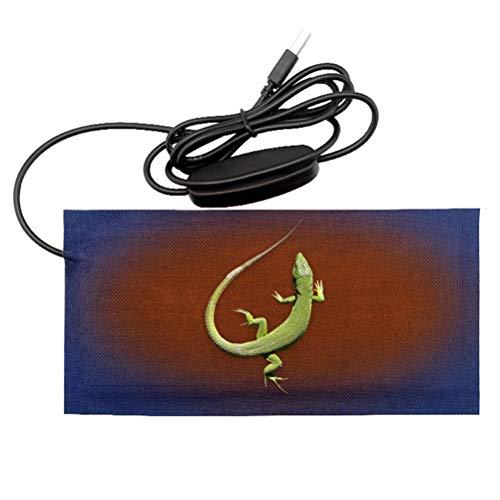 CLFYOU Manta eléctrica hecha de felpa, cojín de calefacción USB 3 ajustes...