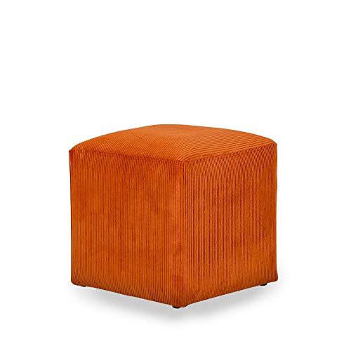 pouf 40 cm MiPuf - Pouf Cube Pana - 40 x 40 cm - Alta resistenza - Arancione