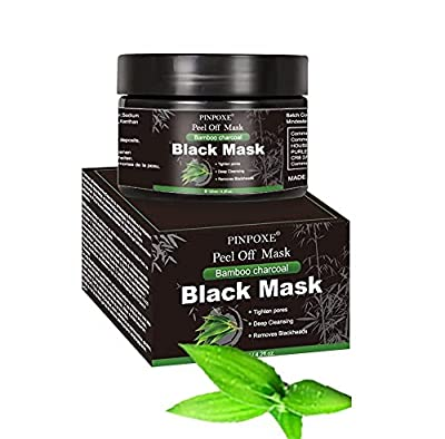 Blackhead Mask, Charcoal Face Mask, Peel off Mask, Black Mask, Blackhead Removal Mask, Charcoal Face Mask, Deep Cleaning Face Nose Activated Exfoliator Mask by PINPOXE