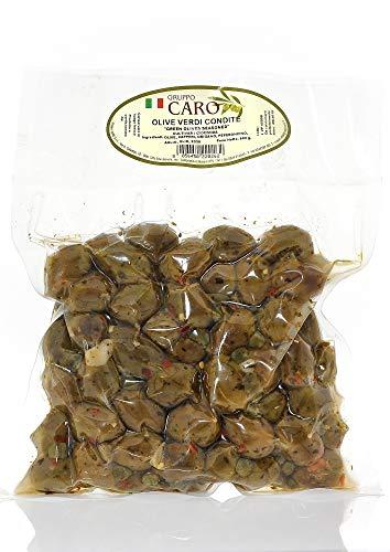 Olive Verdi Siciliane Condite Piccanti (1Kg netti)