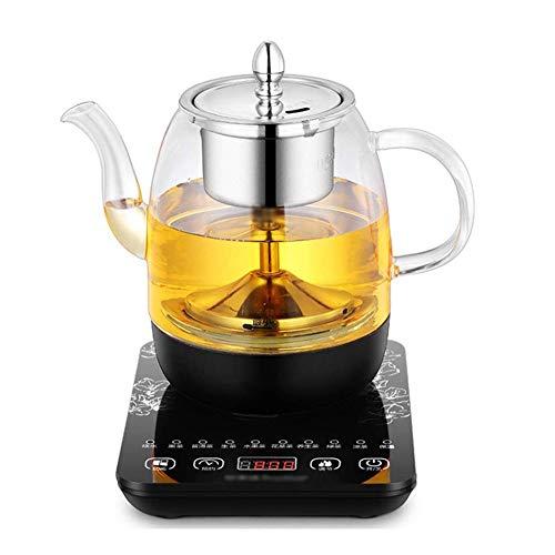 Great Price! IhDFR Electric Water Kettle Glass Kettle, 800W Multi-Function Tea Maker, Health Pot Automatic Multi-Function Thickening Glass Electric Kettle Teapot Black Teapot Tea Pot