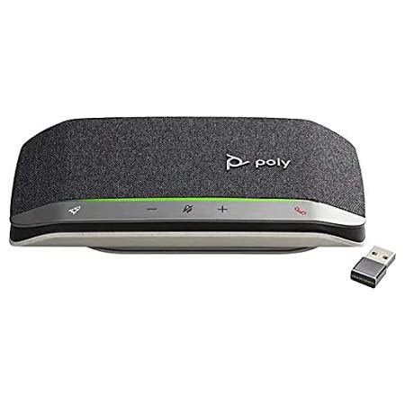 Poly - Sync 20+ USB-A Personal Bluetooth Smart Speakerphone (Plantronics) - Connect to Smartphones via Bluetooth-PC/Mac via Poly - BT600 Dongle -Works with Teams (Certified), Zoom & More