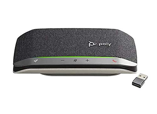 Poly Sync 20+ USB-A Microsoft Bluetooth Wireless Speakerphone with USB-A BT600 Dongle