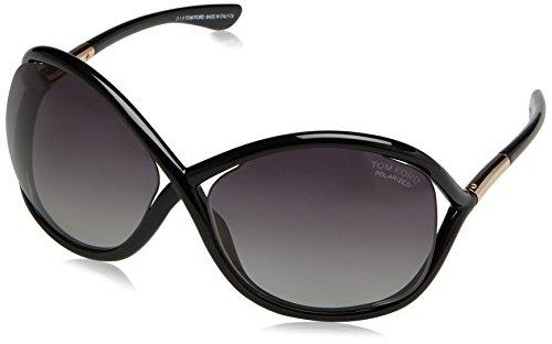 Tom Ford Damen FT0009 01D 64 Sonnenbrille, Schwarz (Nero Lucido/Fumo Polar)
