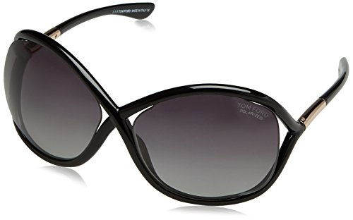 Tom Ford Polarized FT0009 110_01D (64 mm) gafas de sol, Black, 64 para Mujer