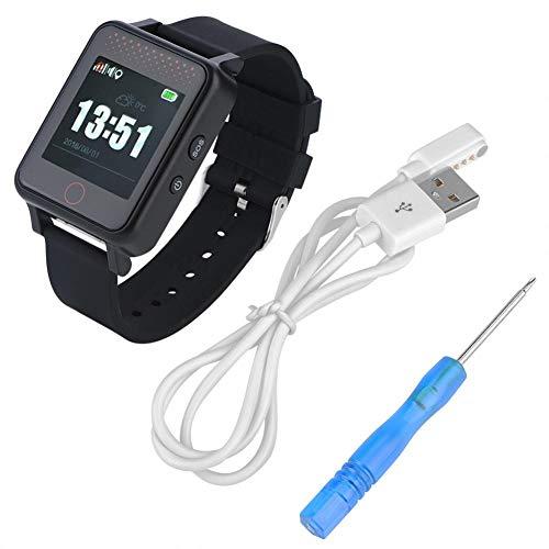 ASHATA Multifunción Reloj de Pulsera para Mayores,1.54 Inch Pantalla Táctil GPS Rastreador de Posicionamiento SOS Anti-pérdida GPS/WiFi Geo-Valla Monitor de Presión Arterial Smartwatch