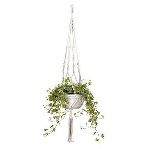 LAAT Suspension Plante Macramé Plant Hanger à la Main Corde Fleur Pot Plante Suspendue Porte-Panier Holder avec Porte-clés (13 * 15cm)