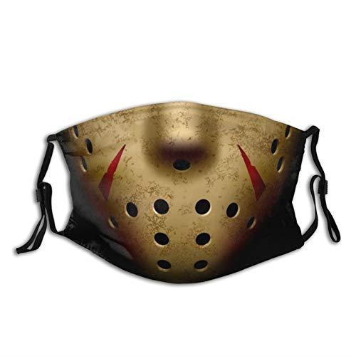 Man Women's Reusable Adjustable Jason Face Mask with Adjustable Ear Loops Cooling Bandana 06