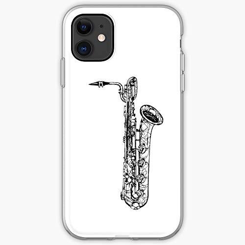 Music Bari Woodwind Baritone Sax Saxophone Band Jazz | Phone Case for iPhone 11, iPhone 11 Pro, iPhone XR, iPhone 7/8 / SE 2020