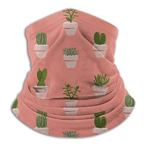 brandless Cacti &Amp; Succulent Bandana for Rave Face Mask Dust Wind UV Sun Neck Gaiter Headwear for Women Men