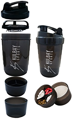 Kulbay Sports 2.0 | プロテインシェイカー 600ml | シェーカーボトル | サプリ入り容器 スマートシェイク | 目盛り 500ml