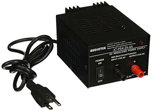 Audiotek – Salida 4A Amp Mobile 13.8 voltios DC Fuente de alimentación AT-PS4