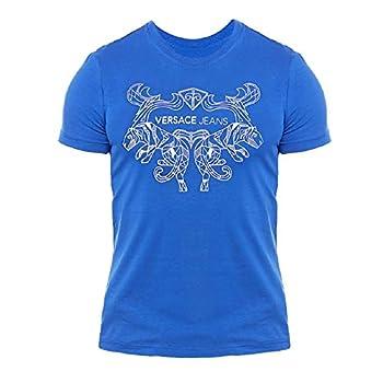Versace Jeans Men s Blue Logo Graphic Cotton T-Shirt  M