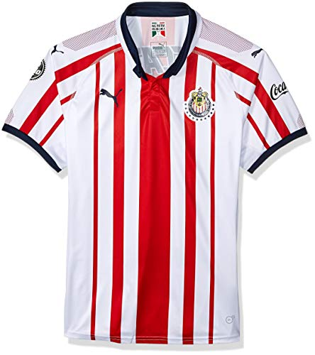 PUMA Herren Chivas Shirt Replica Hemd, Hombre White Red New Navy, Klein