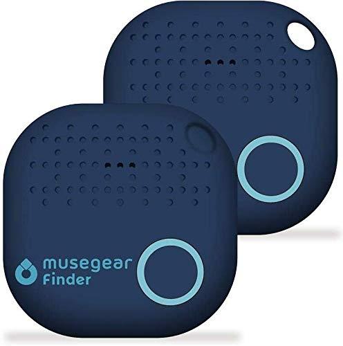 musegear Schlüsselfinder mit Bluetooth App aus Deutschland I Maximaler Datenschutz I dunkelblau 2er Pack I Schlüssel Finden