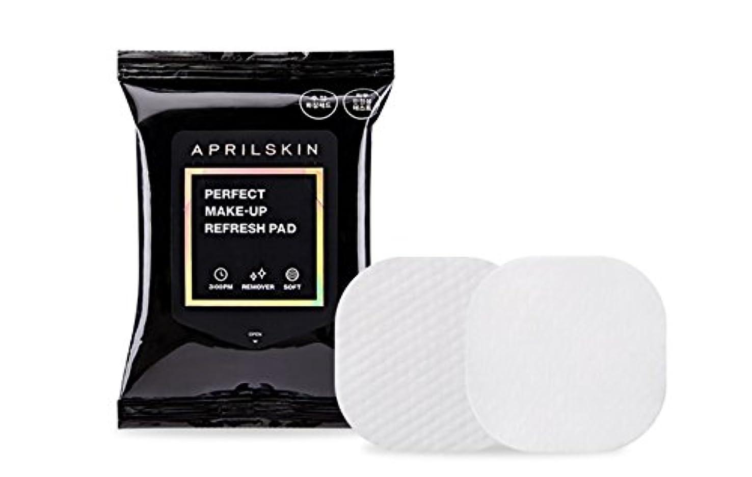 手術オーラル可聴[APRILSKIN] エイプリルスキンパーフェクト修正化粧パッド 55g 30枚 / PERFECT MAKE-UP REFRESH PAD [並行輸入品]