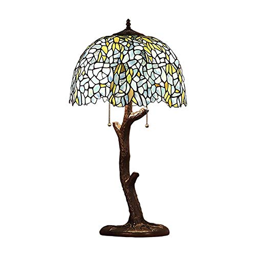 Aoshen Lámpara de Mesa Estilo Tiffany Retro Manchado árbol Rama Forma lámpara de Mesa Sala de Estar de la Cama Estudio de la Cama Armario de protección de Ojo de la lámpara